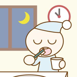 夜の歯磨き
